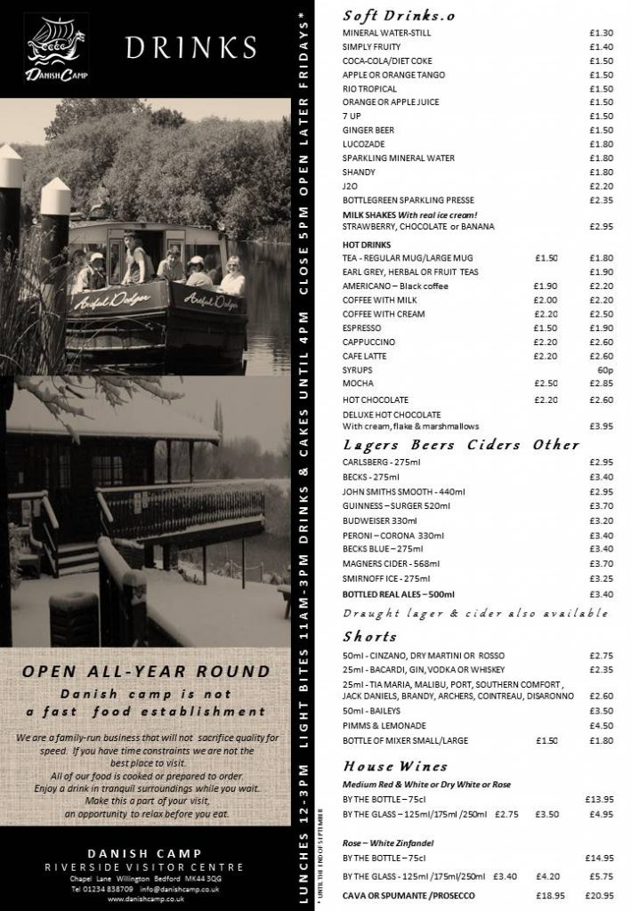 DRINKS MENU - 2016