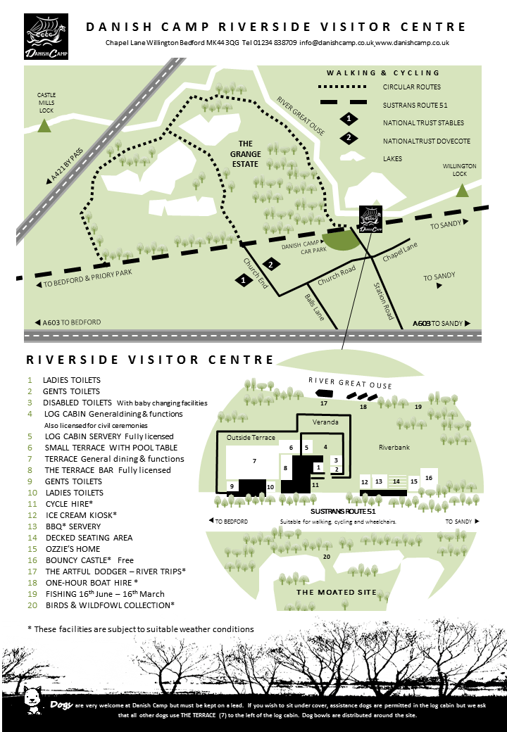 How to find us and find your way around our riverbank site